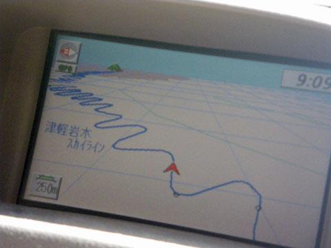津軽岩木スカイラインのカーブ道