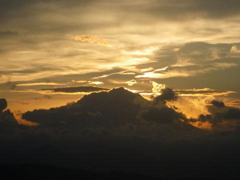 富士山、見えなかったね