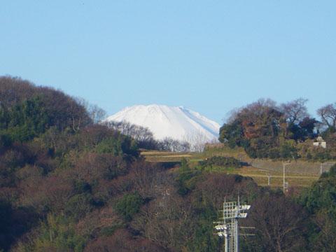 神社の裏からの富士山