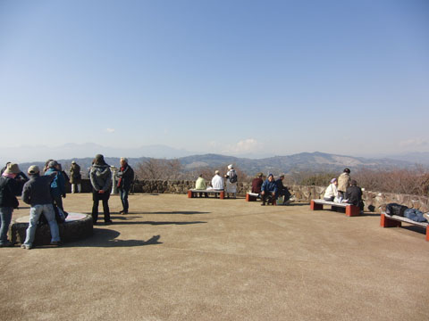 吾妻山の頂上