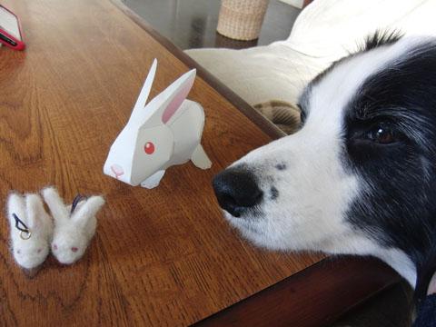 ウサギのストラップ
