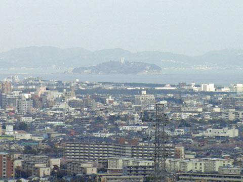 江ノ島が見える