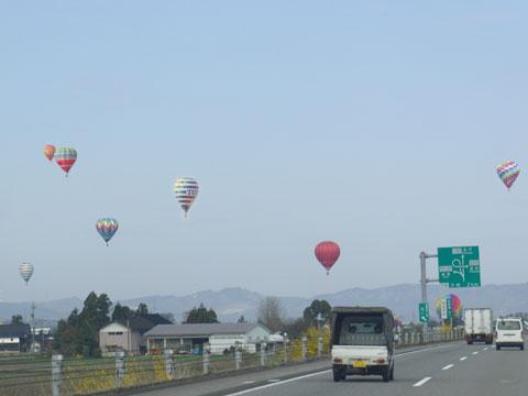 熱気球の大会が