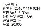 サイバーエージェントFX外貨EX2万円