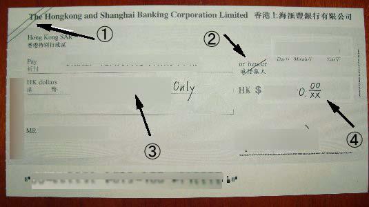 HSBCHSBCHSBCの小切手小切手