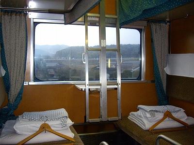 B寝台席の窓20090111