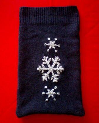 毛糸刺繍のゆたぽんカバー