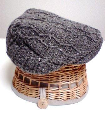 手編みハンチング帽