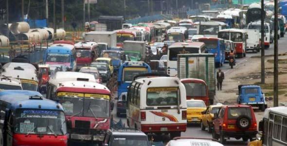 ボゴタの渋滞