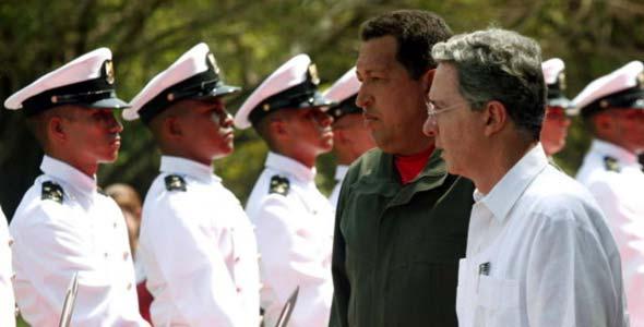 Chávez y Uribe