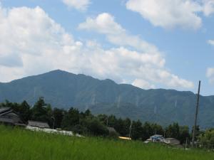 目的地らしい山