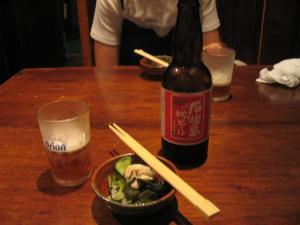 石垣島地ビールと突き出し