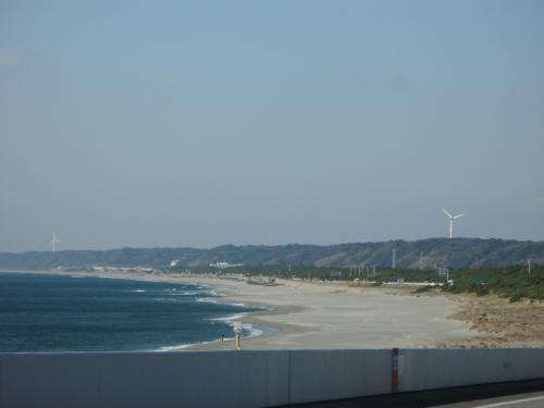 浜名湖大橋から遠州灘