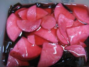 赤根菜酢漬け