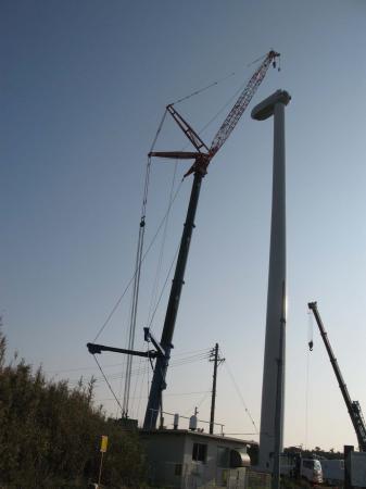風車建設中