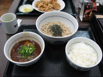 角煮蕎麦定食