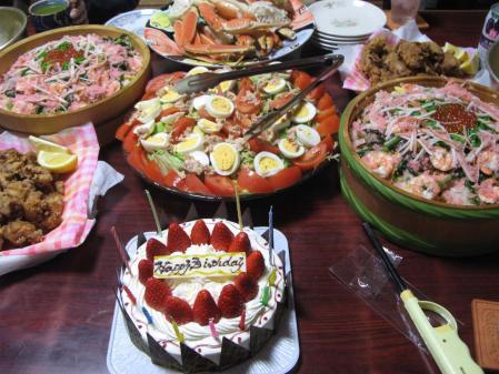 お誕生日の料理