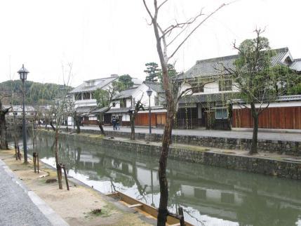 柳と倉敷川