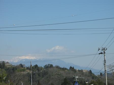 山の上は雪