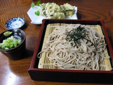 舞茸天ぷらざる蕎麦