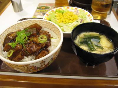 豚トロ角煮丼サラダセット