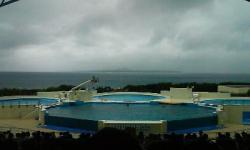 荒天の沖縄