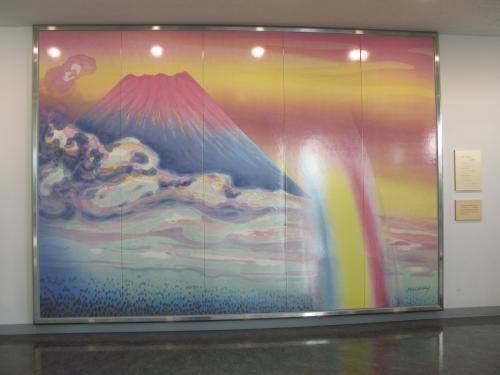 富士山と虹