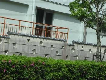 掛川西高校の塀