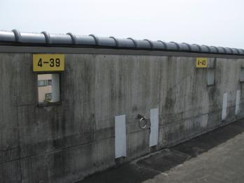 駐車場の壁