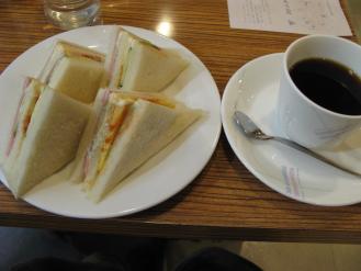 サンドイッチのモーニング