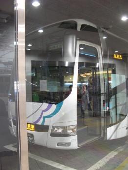 金沢行きのバス