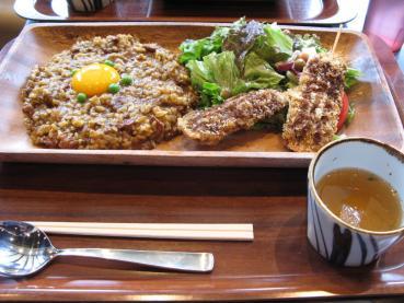 大阪カリーと串カツセット