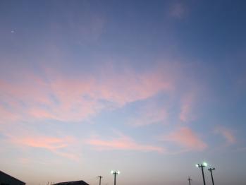 オーロラ(?)の空