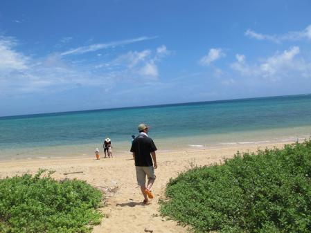 平野のビーチ