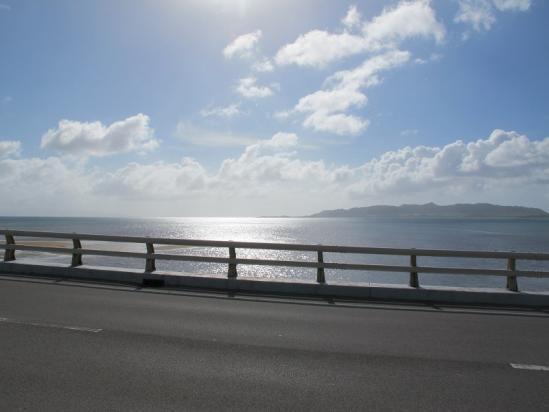 名蔵アンパルから海側