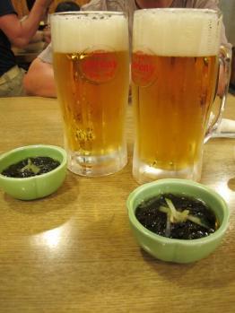 オリオンビールと突き出し