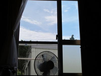 民宿うるま家 部屋の窓から