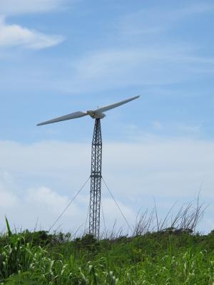 可倒式風力発電風車