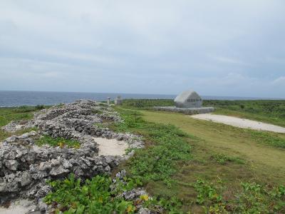 最南端、全国の石のオブジェ