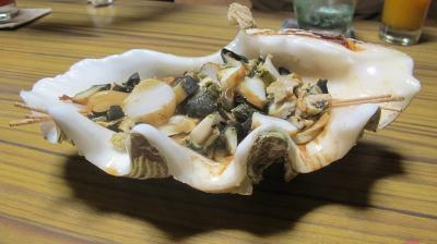 テンコ盛り焼きシャコガイ