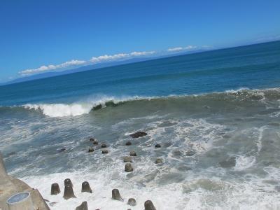 台風が来る直前の駿河湾