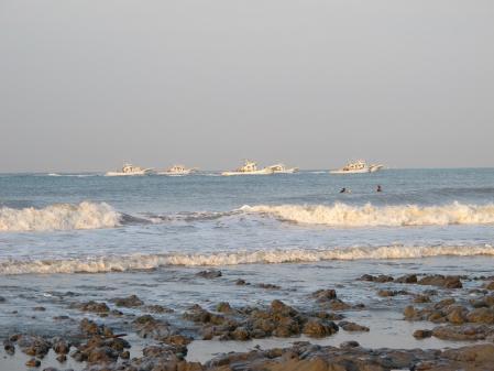 尾高海岸 漁船団