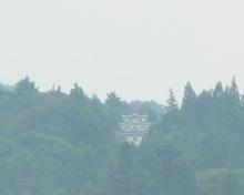 岩村城のパネル