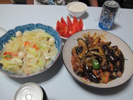 八宝菜とマーボナス
