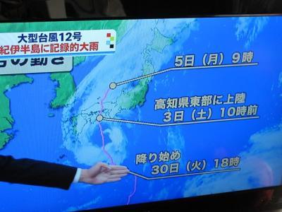 台風12号の進路