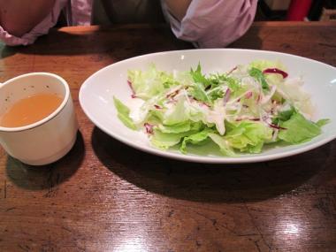 セットスープとサラダ大