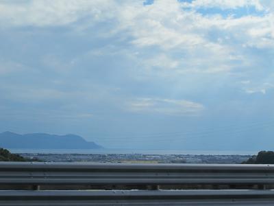 東名高速から海