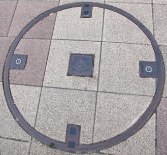 岡部宿 マンホール