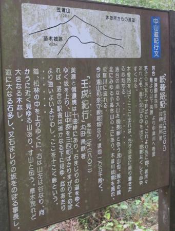 中山道 新茶屋付近