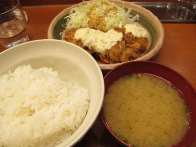 カキフライと竜田揚げのセット